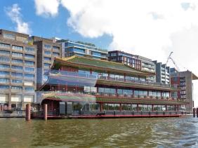2019-04-12 NL Amsterdam Bootsfahrt (41) 10h31-11h53 Sea Palace Restaurant Oosterdokskade