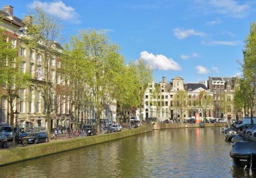 2019-04-12 NL Amsterdam morgens (6) Herengracht morgens Viertel vor zehn Uhr