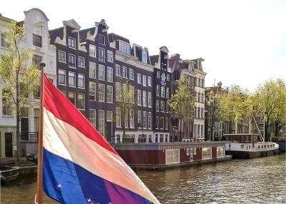 2019-04-13 NL Amsterdam Prinsengracht (16) Blick vom Museumsboot
