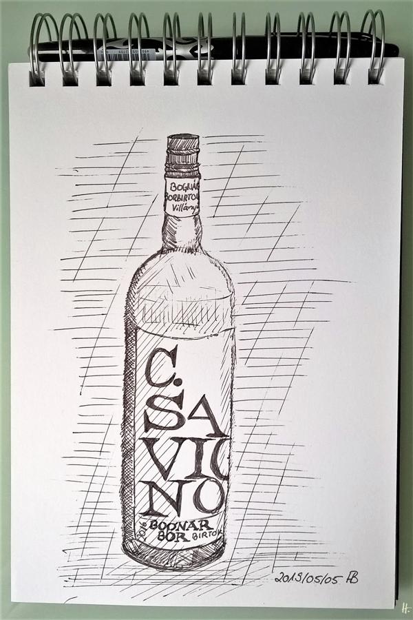 2019-05-05 Zeichnung C. SAUVIGNON Bognar Bor Birtok 01